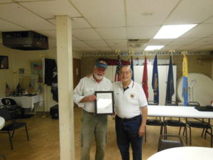 Harveys Lake American Legion acknowledges Rave Landscaping donation
